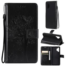 Embossing Butterfly Tree Leather Wallet Case for Samsung Galaxy A32 4G - Black