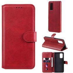 Retro Calf Matte Leather Wallet Phone Case for Samsung Galaxy A32 4G - Red