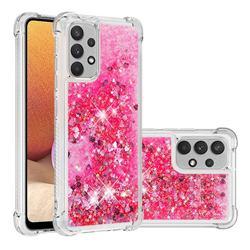 Dynamic Liquid Glitter Sand Quicksand TPU Case for Samsung Galaxy A32 4G - Pink Love Heart
