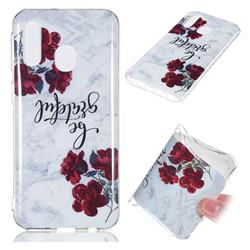 Rose Soft TPU Marble Pattern Phone Case for Samsung Galaxy A40