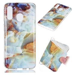 Fire Cloud Soft TPU Marble Pattern Phone Case for Samsung Galaxy A40