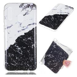 Black and White Soft TPU Marble Pattern Phone Case for Samsung Galaxy A40