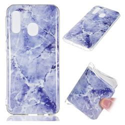 Light Gray Soft TPU Marble Pattern Phone Case for Samsung Galaxy A40