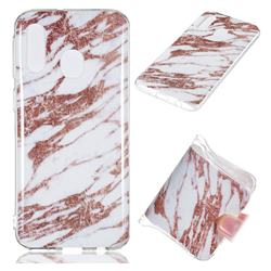 Rose Gold Grain Soft TPU Marble Pattern Phone Case for Samsung Galaxy A40