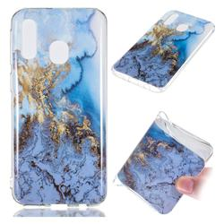 Sea Blue Soft TPU Marble Pattern Case for Samsung Galaxy A40