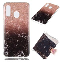 Glittering Rose Black Soft TPU Marble Pattern Case for Samsung Galaxy A40