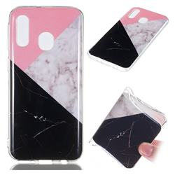 Tricolor Soft TPU Marble Pattern Case for Samsung Galaxy A40