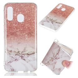 Glittering Rose Gold Soft TPU Marble Pattern Case for Samsung Galaxy A40