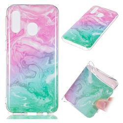 Pink Green Soft TPU Marble Pattern Case for Samsung Galaxy A40