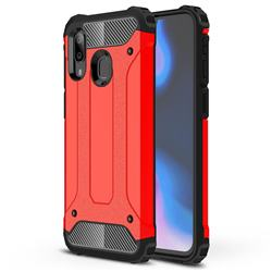 King Kong Armor Premium Shockproof Dual Layer Rugged Hard Cover for Samsung Galaxy A40 - Big Red