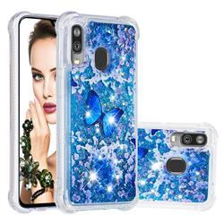 Flower Butterfly Dynamic Liquid Glitter Sand Quicksand Star TPU Case for Samsung Galaxy A40