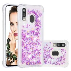 Dynamic Liquid Glitter Sand Quicksand Star TPU Case for Samsung Galaxy A40 - Rose