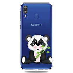 Bamboo Panda Clear Varnish Soft Phone Back Cover for Samsung Galaxy A40