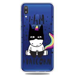 Batman Clear Varnish Soft Phone Back Cover for Samsung Galaxy A40