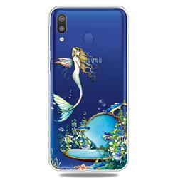 Mermaid Clear Varnish Soft Phone Back Cover for Samsung Galaxy A40