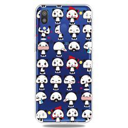 Mini Panda Clear Varnish Soft Phone Back Cover for Samsung Galaxy A40
