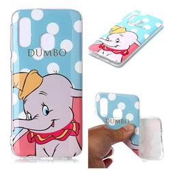 Dumbo Elephant Soft TPU Cell Phone Back Cover for Samsung Galaxy A40