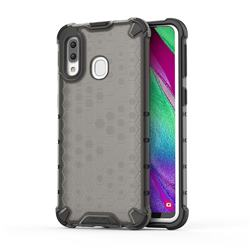 Honeycomb TPU + PC Hybrid Armor Shockproof Case Cover for Samsung Galaxy A40 - Gray