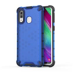 Honeycomb TPU + PC Hybrid Armor Shockproof Case Cover for Samsung Galaxy A40 - Blue