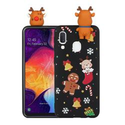 Gift Snow Christmas Xmax Soft 3D Doll Silicone Case for Samsung Galaxy A40
