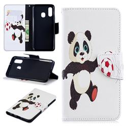 Football Panda Leather Wallet Case for Samsung Galaxy A40