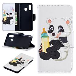 Baby Panda Leather Wallet Case for Samsung Galaxy A40