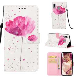 Watercolor 3D Painted Leather Wallet Case for Samsung Galaxy A40