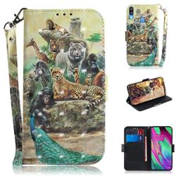 Beast Zoo 3D Painted Leather Wallet Phone Case for Samsung Galaxy A40
