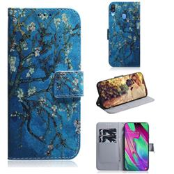 Apricot Tree PU Leather Wallet Case for Samsung Galaxy A40