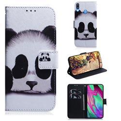 Sleeping Panda PU Leather Wallet Case for Samsung Galaxy A40