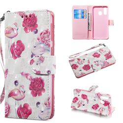 Flamingo 3D Painted Leather Wallet Phone Case for Samsung Galaxy A40