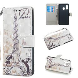 Tower Couple 3D Painted Leather Wallet Phone Case for Samsung Galaxy A40