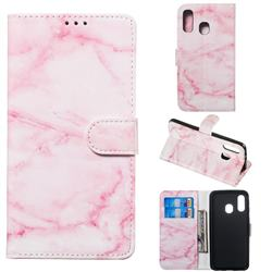 Pink Marble PU Leather Wallet Case for Samsung Galaxy A40