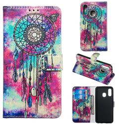 Butterfly Chimes PU Leather Wallet Case for Samsung Galaxy A40