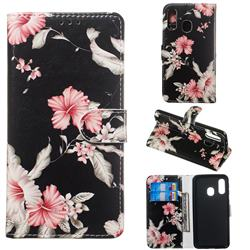 Azalea Flower PU Leather Wallet Case for Samsung Galaxy A40