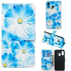 Orchid Flower PU Leather Wallet Case for Samsung Galaxy A40