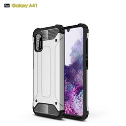 King Kong Armor Premium Shockproof Dual Layer Rugged Hard Cover for Samsung Galaxy A41 - White