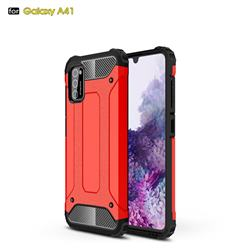 King Kong Armor Premium Shockproof Dual Layer Rugged Hard Cover for Samsung Galaxy A41 - Big Red