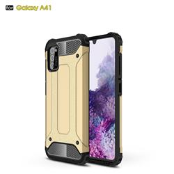 King Kong Armor Premium Shockproof Dual Layer Rugged Hard Cover for Samsung Galaxy A41 - Champagne Gold