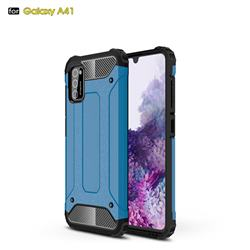 King Kong Armor Premium Shockproof Dual Layer Rugged Hard Cover for Samsung Galaxy A41 - Sky Blue