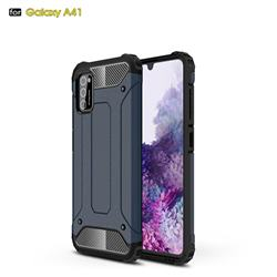 King Kong Armor Premium Shockproof Dual Layer Rugged Hard Cover for Samsung Galaxy A41 - Navy