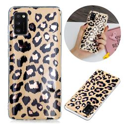 Leopard Galvanized Rose Gold Marble Phone Back Cover for Samsung Galaxy A41