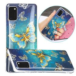 Golden Butterfly Painted Galvanized Electroplating Soft Phone Case Cover for Samsung Galaxy A41