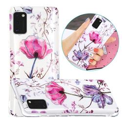 Magnolia Painted Galvanized Electroplating Soft Phone Case Cover for Samsung Galaxy A41