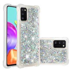 Dynamic Liquid Glitter Sand Quicksand Star TPU Case for Samsung Galaxy A41 - Silver
