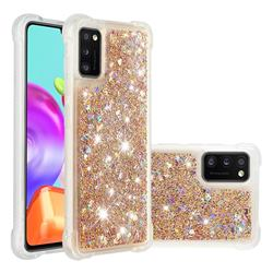 Dynamic Liquid Glitter Sand Quicksand Star TPU Case for Samsung Galaxy A41 - Diamond Gold
