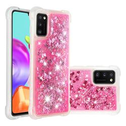 Dynamic Liquid Glitter Sand Quicksand TPU Case for Samsung Galaxy A41 - Pink Love Heart