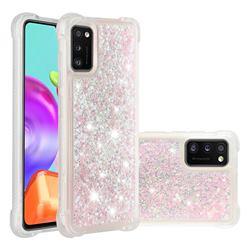 Dynamic Liquid Glitter Sand Quicksand TPU Case for Samsung Galaxy A41 - Silver Powder Star