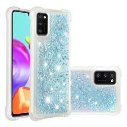 Dynamic Liquid Glitter Sand Quicksand TPU Case for Samsung Galaxy A41 - Silver Blue Star