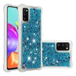 Dynamic Liquid Glitter Sand Quicksand TPU Case for Samsung Galaxy A41 - Blue Love Heart